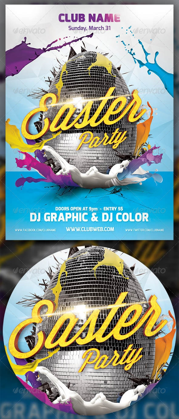 Easter Party Flayer Template - Events Flyers
