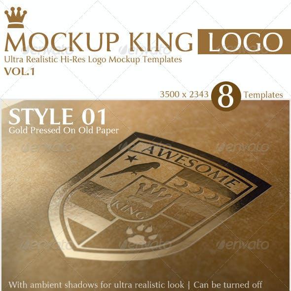 Mockup King Ultra Realistic Logo Mockup Templates