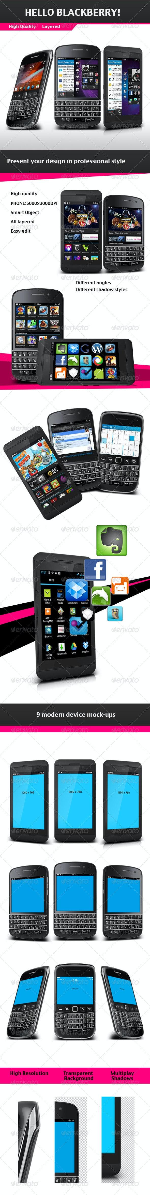 Blackberry Phone Mock-up - Mobile Displays