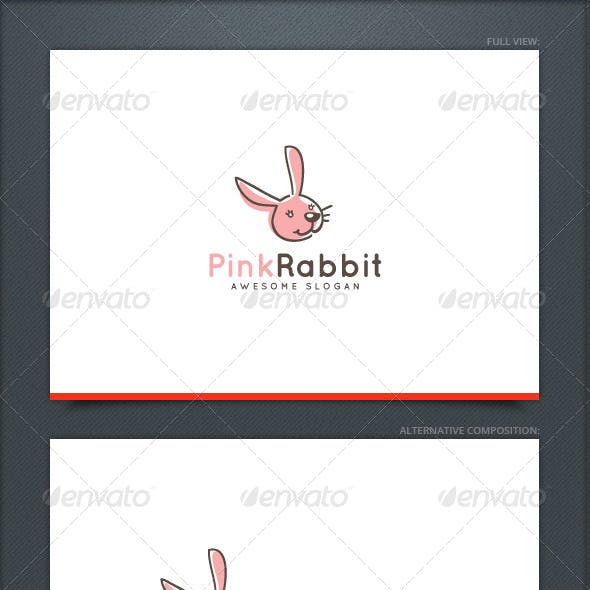 Pink Rabbit Logo Template