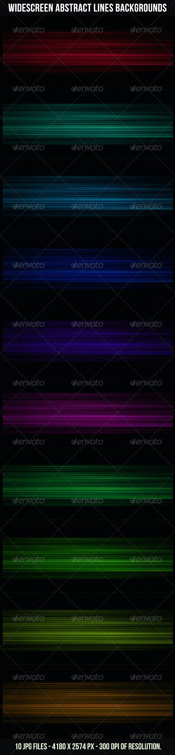 Widescreen Abstract Lines Backgrounds - Tech / Futuristic Backgrounds