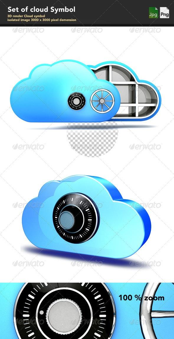 Cloud Symbol - Objects 3D Renders