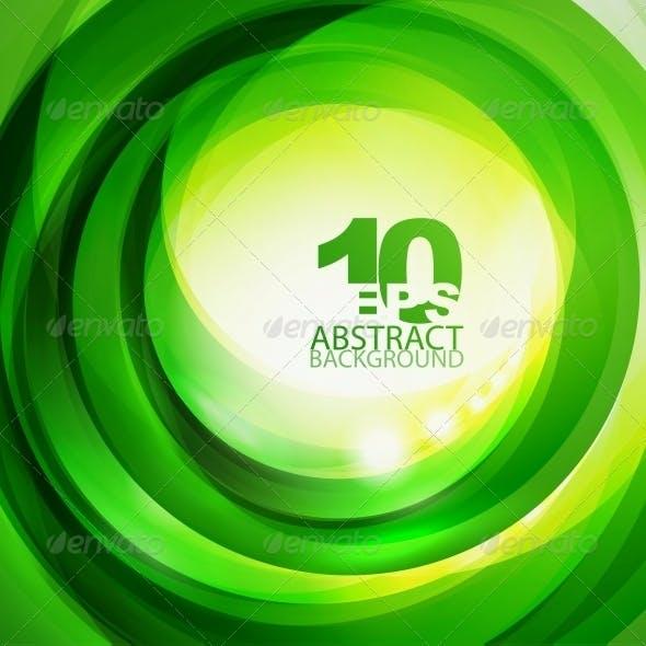 Green Bright Swirl Background