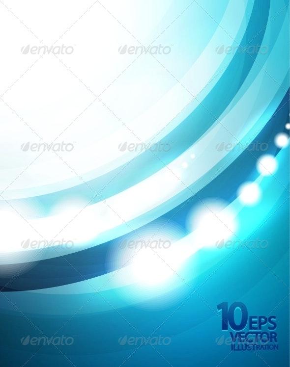 Blue Wave Vector Background - Backgrounds Decorative