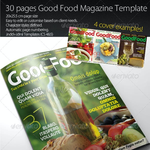 Good Food Magazine Template