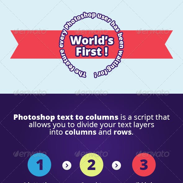 Photoshop Text to Columns