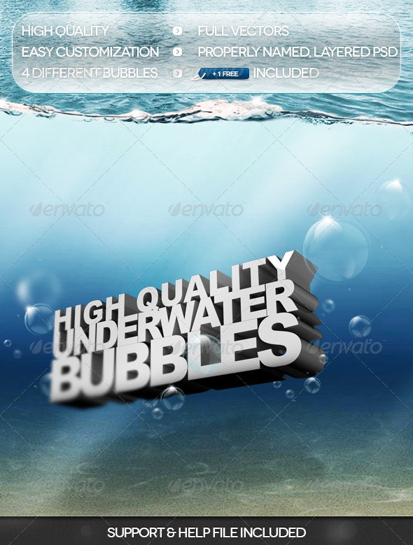 HQ Underwater Bubbles - Abstract Backgrounds