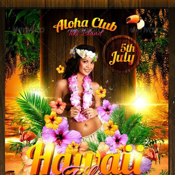 Hawaii Tiki Flyer Template