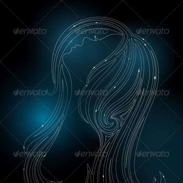 Glowing Silhouette of a Woman