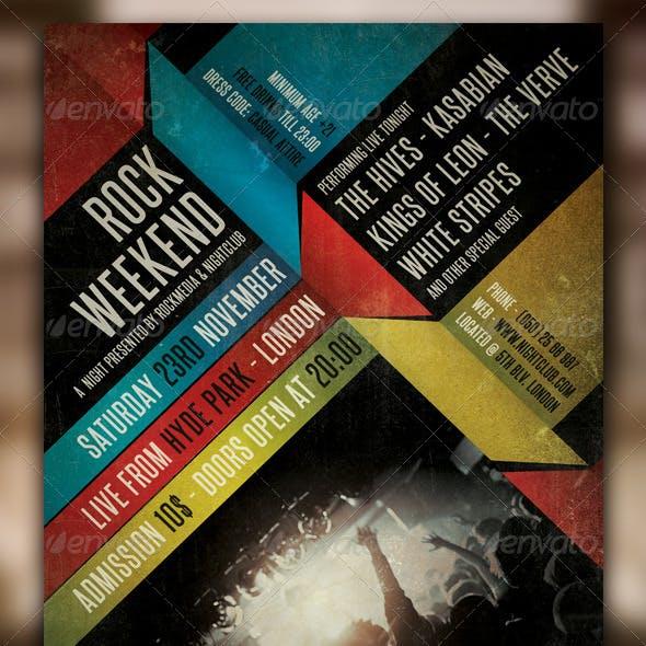 Indie Rock Concert Flyer / Poster