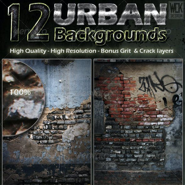 12 Distressed Urban Backgrounds