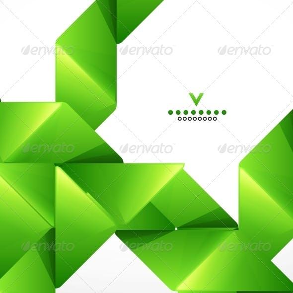 Green Paper Stripes Modern Template