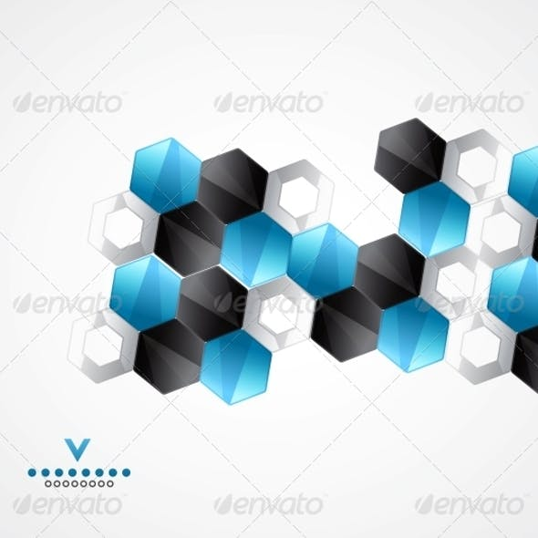 Modern Hexagons | Geometrical Design Template