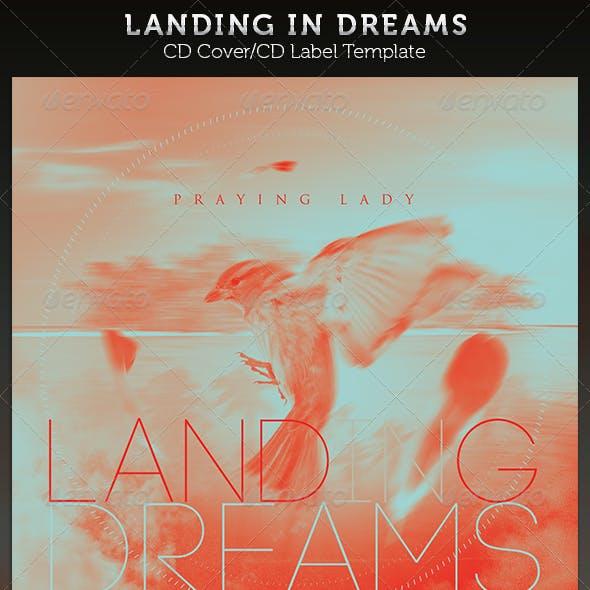 Landing In Dreams: CD Cover Artwork Template