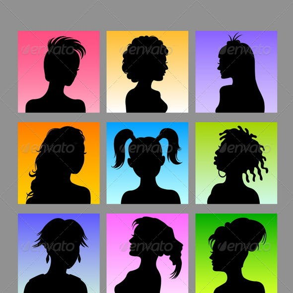 Avatars - 30 Female & Male Silhouettes