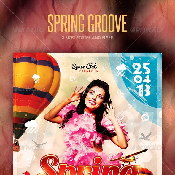 Spring Groove Poster and Flyer