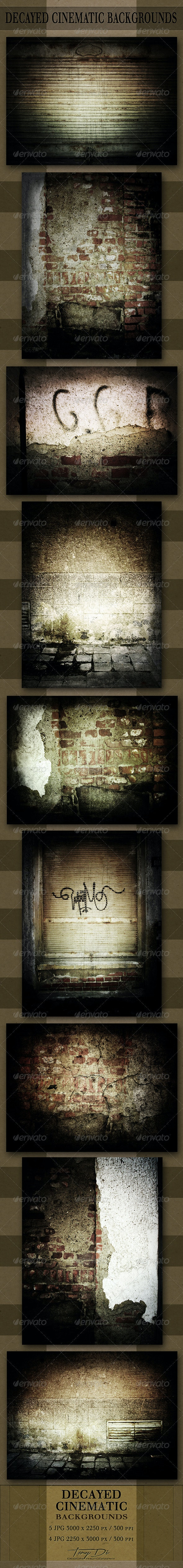 Decayed Cinematic Backgrounds - Urban Backgrounds