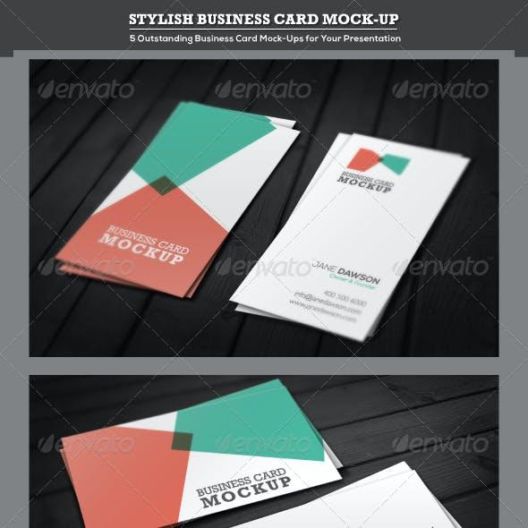 Stylish Business Card Mock-up