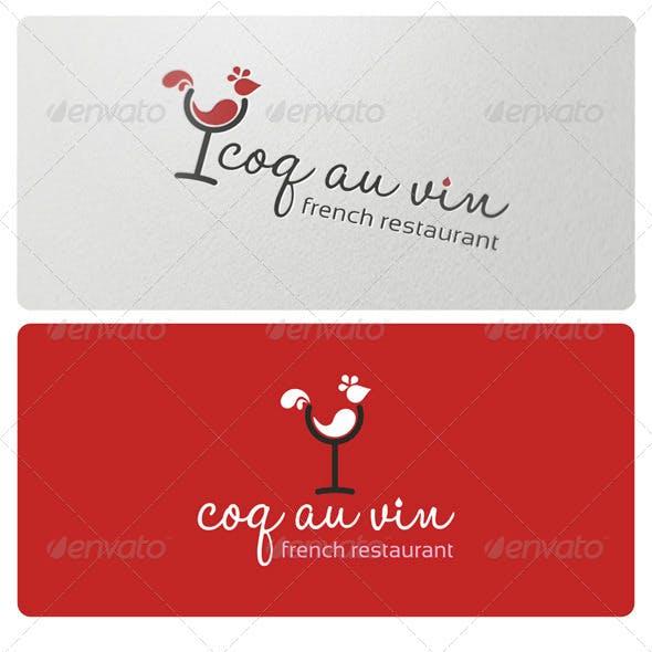 Coq Au Vin Logo Template