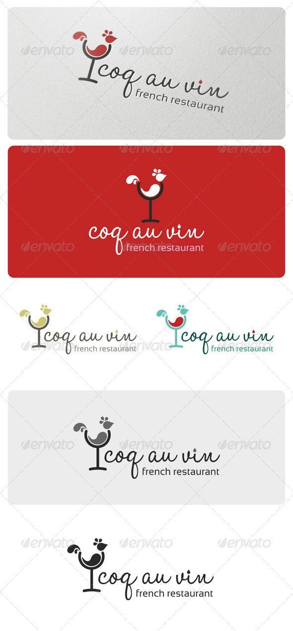 Coq Au Vin Logo Template - Food Logo Templates