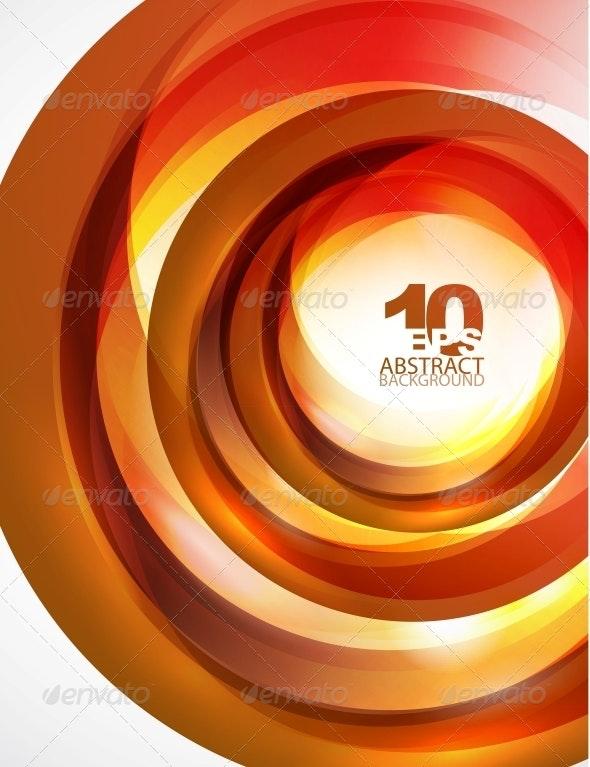 Orange Swirl Wave - Backgrounds Decorative