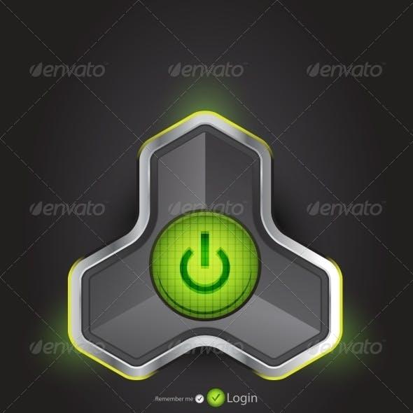 Vector Futuristic Power Button