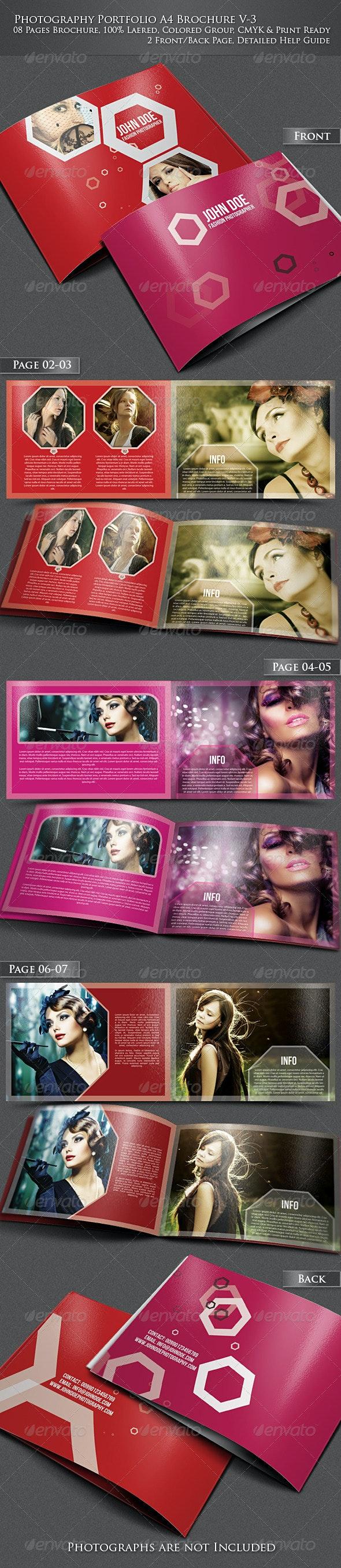 Photography Portfolio A4 Brochure -V3 - Portfolio Brochures