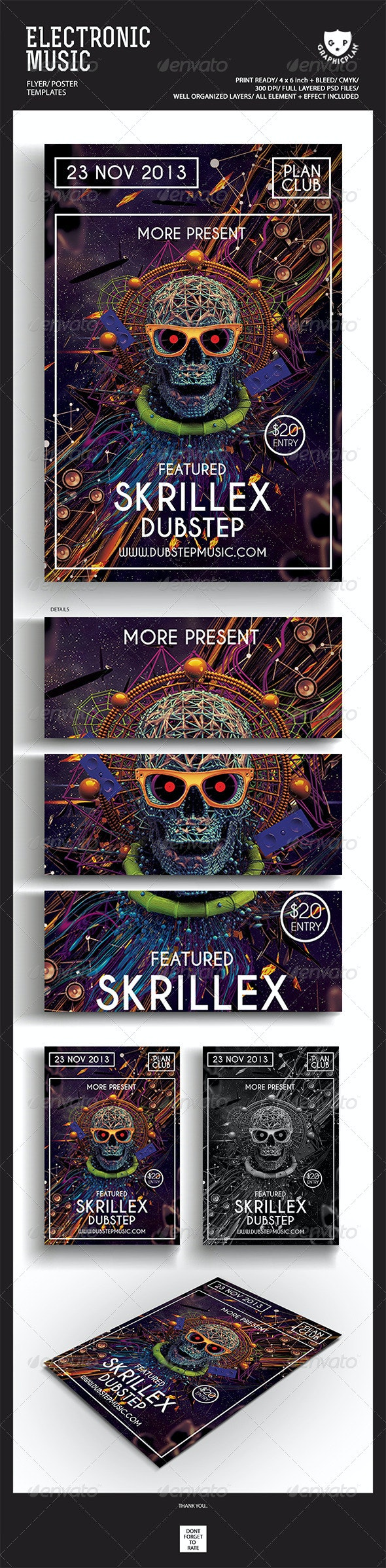 Electronic Music Flyer/Poster - Events Flyers