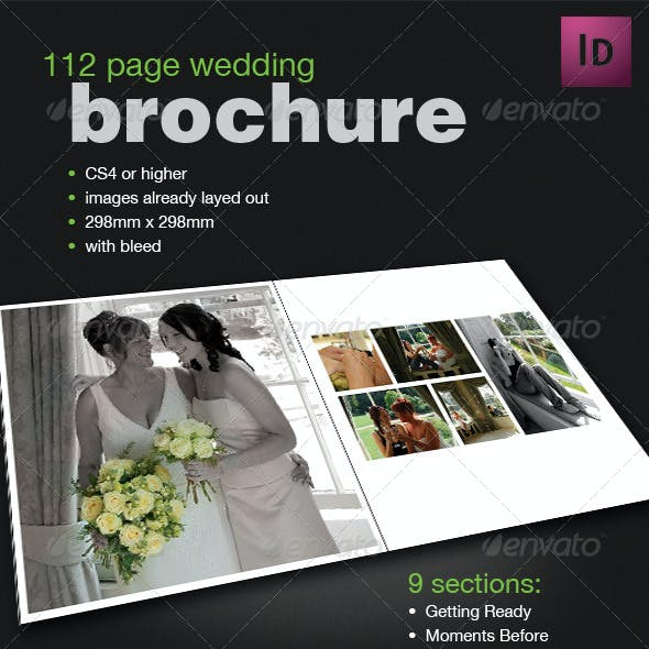 112 Page Wedding Book Template