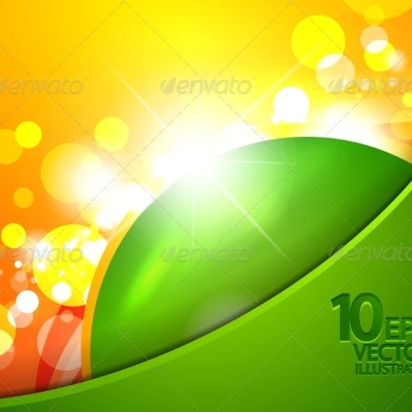 Hi-Tech Shiny Techno Bubble Background