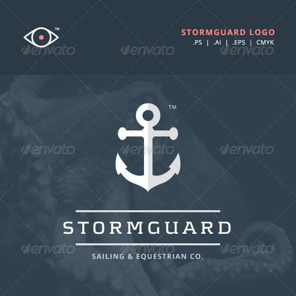 Stormguard - Sailing & Marine themed logo