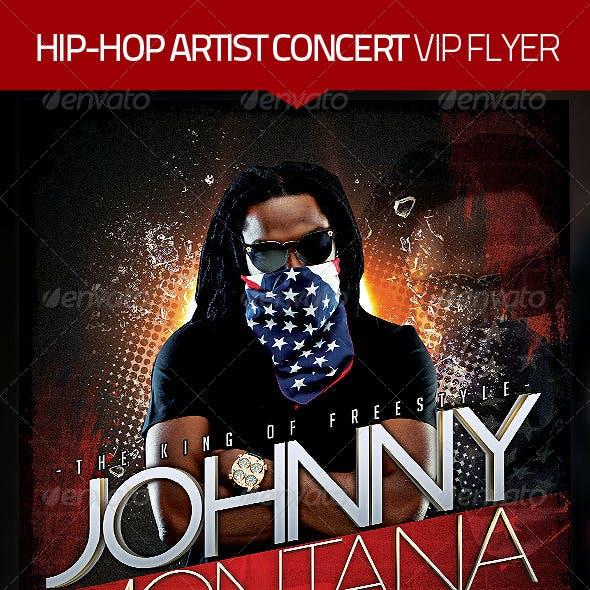 Hip Hop Artist Concert Flyer