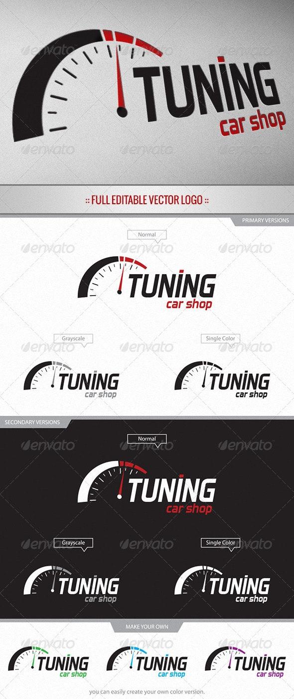 Tuning Car Shop - Logo - Objects Logo Templates