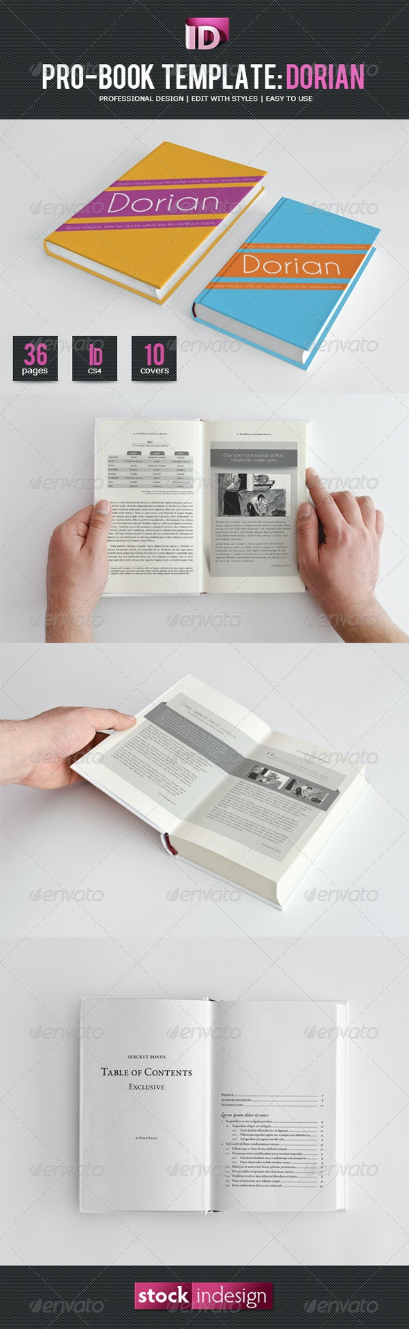 Book Template: Dorian - Miscellaneous Print Templates