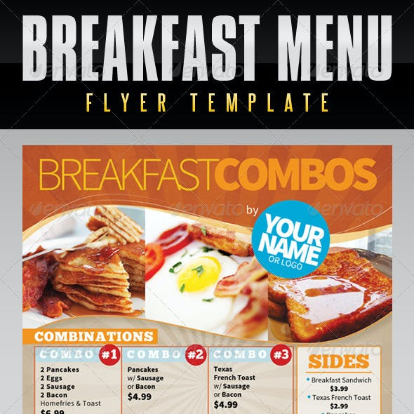 Menu Flyer Template - Breakfast