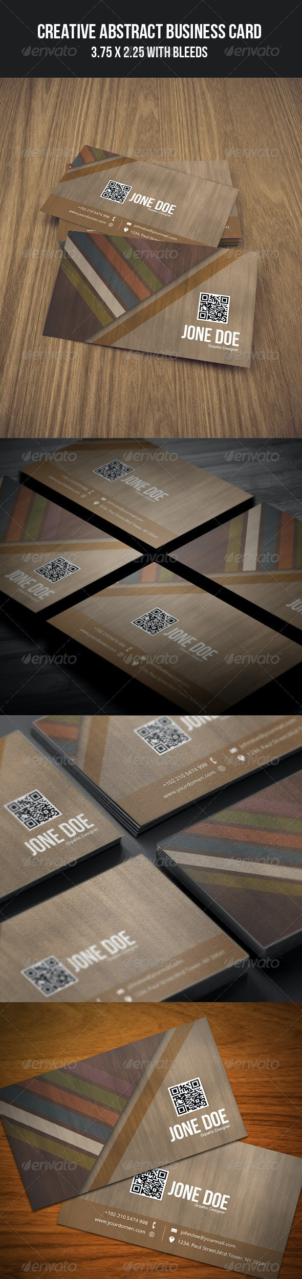 Creative Abstract Business Card - 04 - Grunge Business Cards