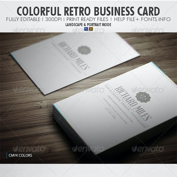 Colorful Retro Business Card
