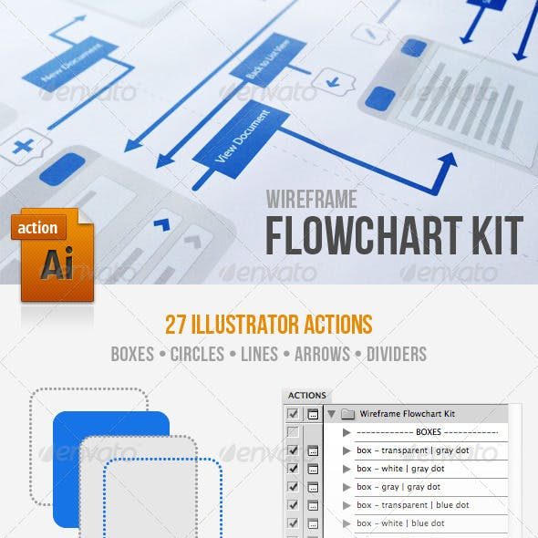 Wireframe Flowchart Kit