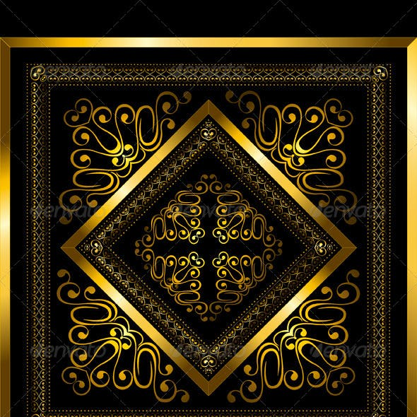 Gold Frame with Openwork Ornament