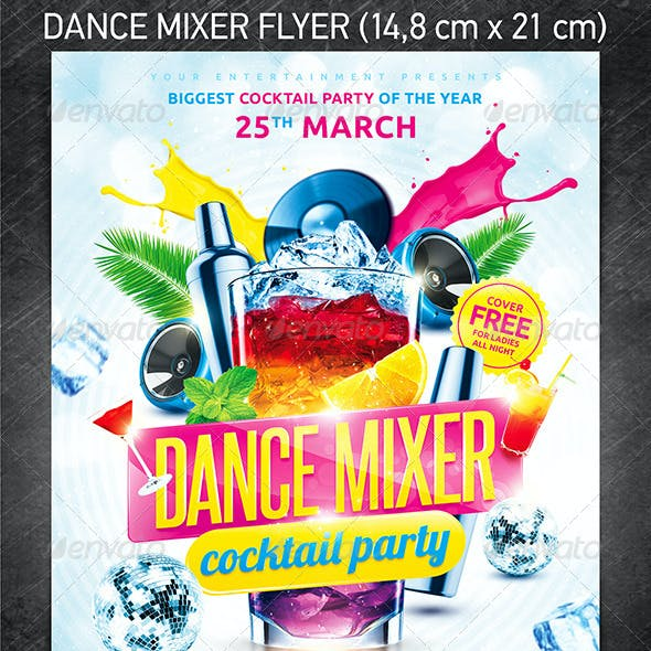 Dance Mixer Party Flyer