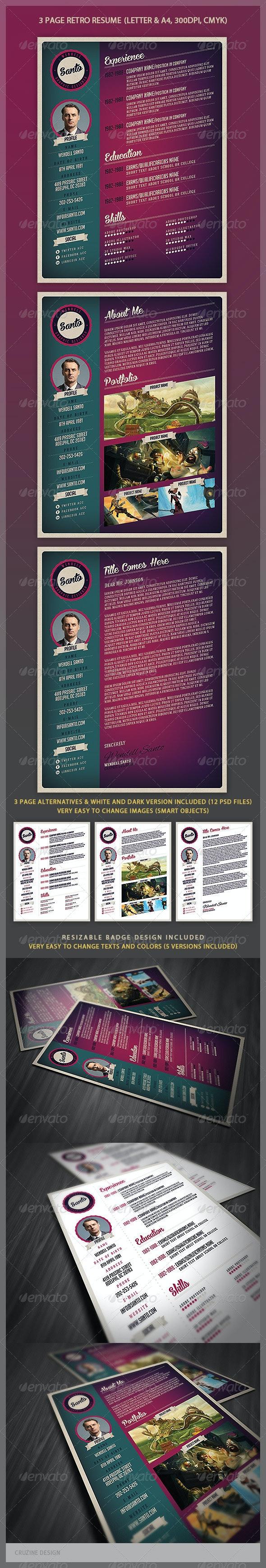 Retro Style Resume - Resumes Stationery