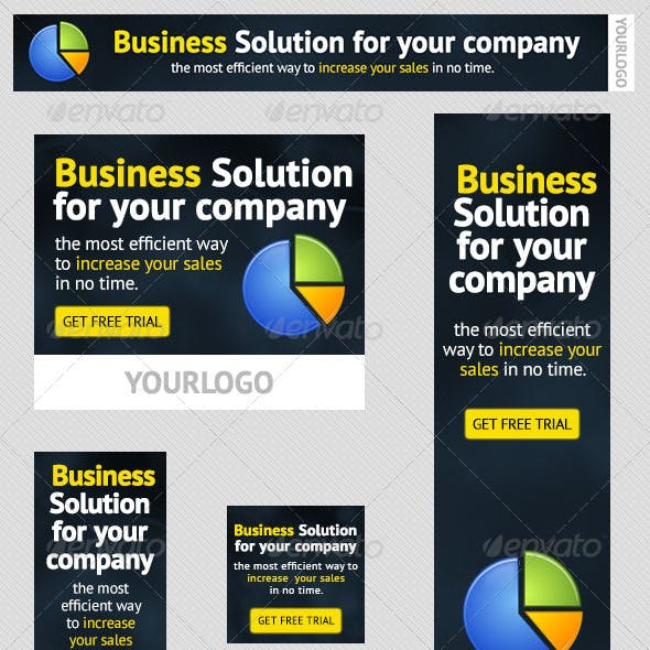 Corporate PSD Banner Ad Template 2
