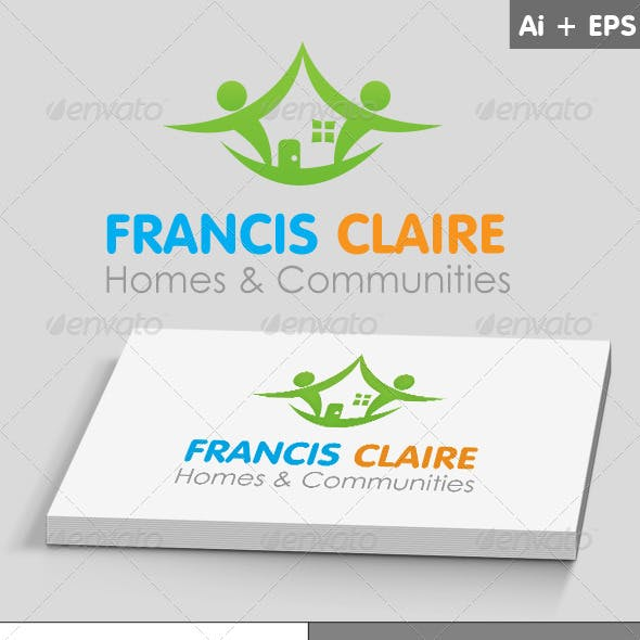 Home & Communities Logo Template