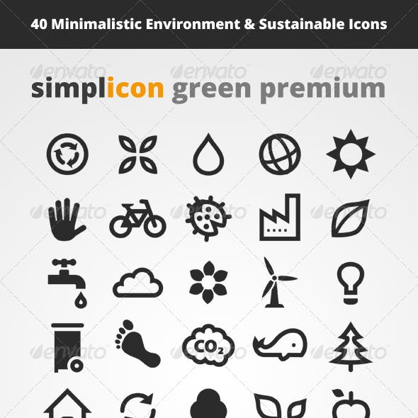 40 Environment & Sustainable Vector Icons