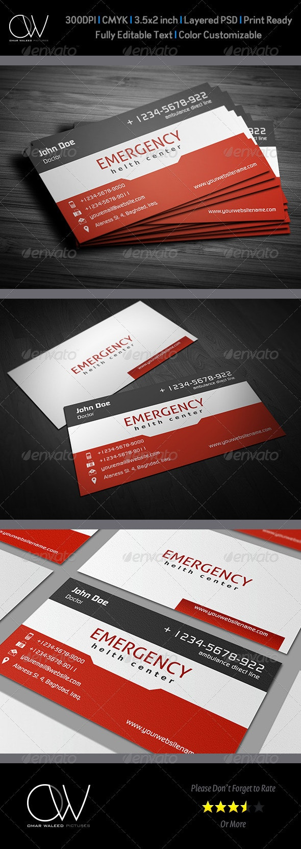 First Aid Business Card Vol.2 - Corporate Business Cards