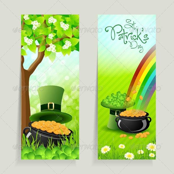 Set of St. Patricks Day Cards - Seasons/Holidays Conceptual