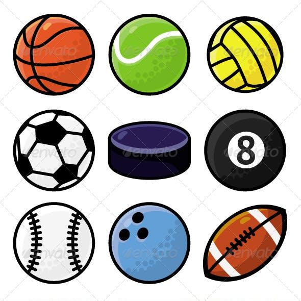 Sports Ball Set and Pattern