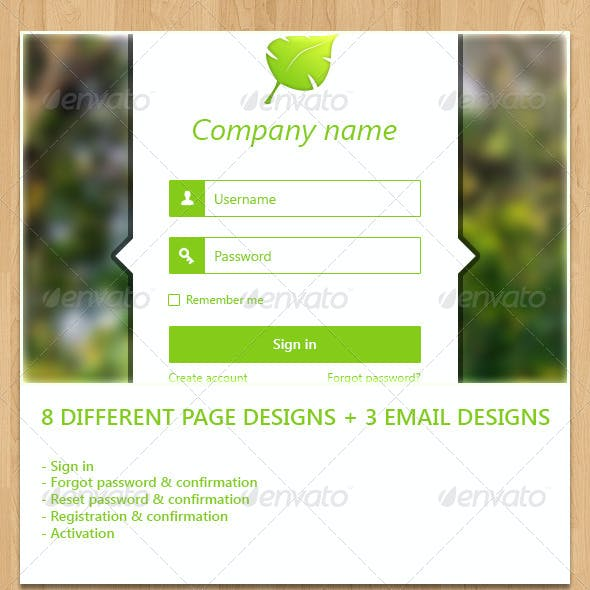 Login + Full Registration Form with Email Design