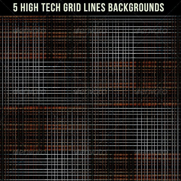 5 High Tech Grid Lines Backgrounds