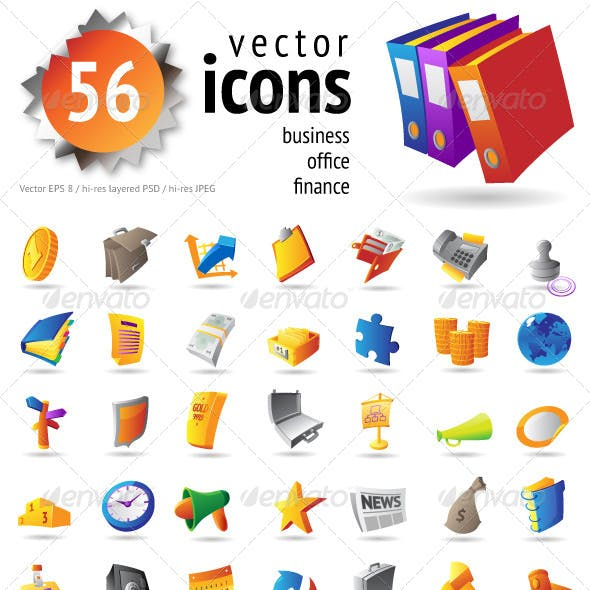 Vector Icons for Business and Finance